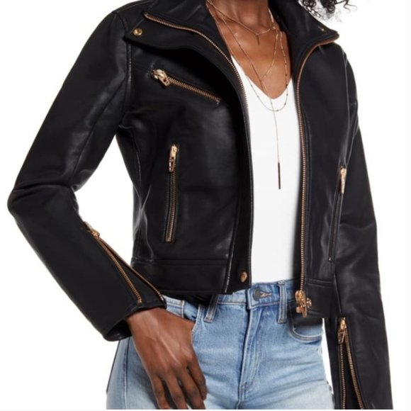 Blank NYC Jackets & Blazers - BLANK NYC The Essentials Faux Leather Moto Jacket